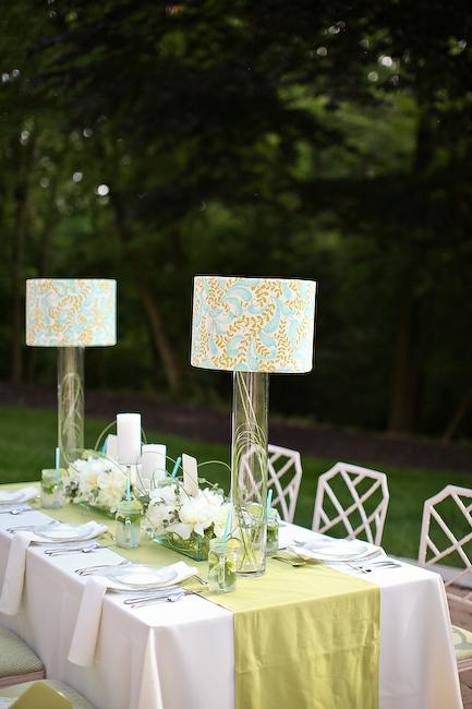Lampshade Centerpieces
