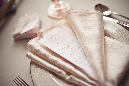 Menu Tucked in Napkin