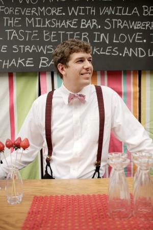 Milkshake Bar Vintage Wedding Ideas