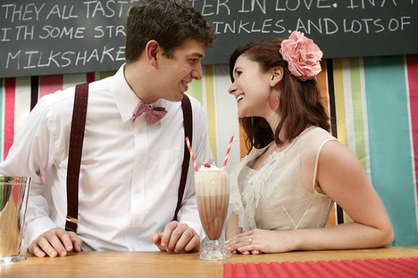 Milkshake Bar Vintage Wedding Ideas