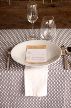 Modern Gray and Yellow Place Setting