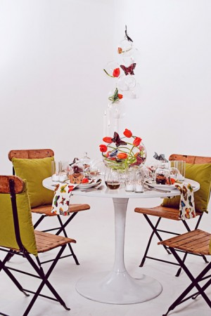 Modern Orange and Chartreuse Tabletop Wedding Ideas