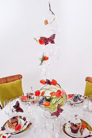 Modern Tulip and Butterfly Table