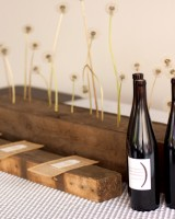 Modern-Urban-Wedding-Ideas-Dandelion-Centerpiece