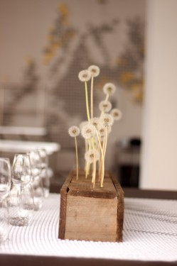 Modern Wood Centerpiece