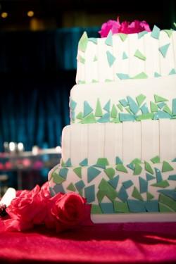 Mosaic Wedding Cake