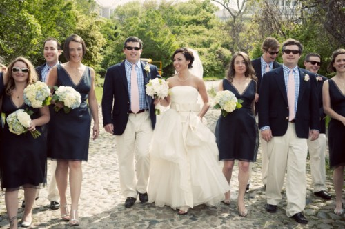 Navy wedding party elizabeth anne designs the wedding blog navy wedding party junglespirit Image collections