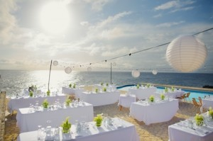 Outdoor Beach Modern Wedding Reception