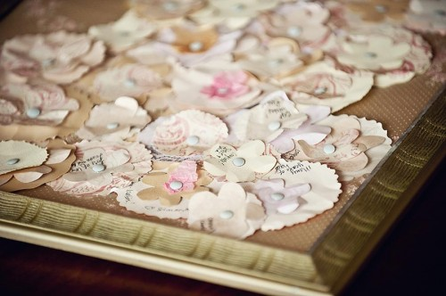 Paper Flower Guest Book