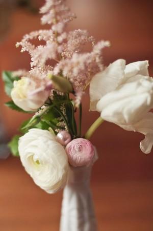 Pearl Accents in Flower Arrangement