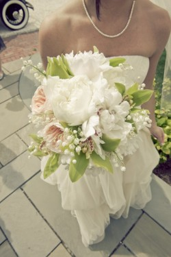 Peony and Orchid Bride Bouquet