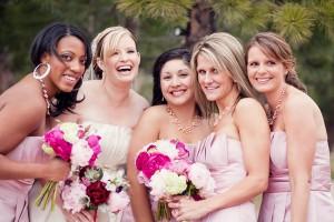 Pink-Bridesmaids-Dress