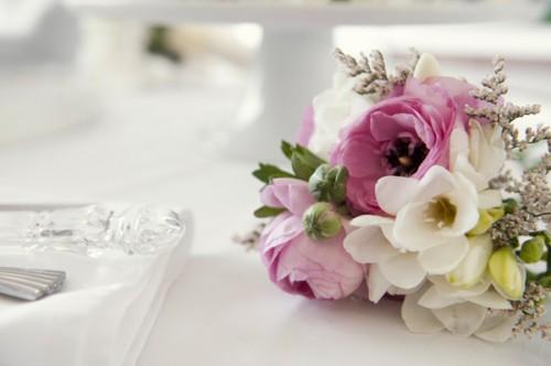Pink Peony Anemone Mini Bouquet Posy