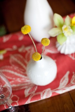 Pink and Yellow Modern Centerpiece