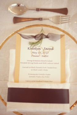 Place Setting with Sprig of Rosemary Wedding Ideas