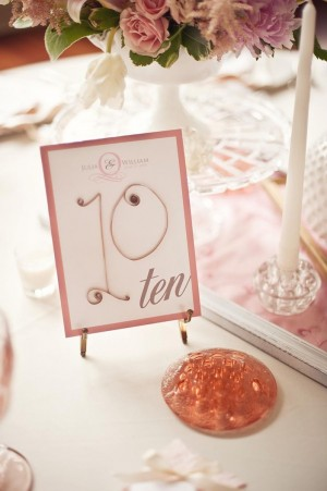 Quilled Paper Wedding Table Number Ideas