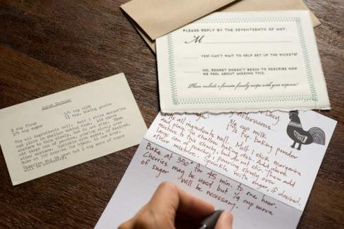 Recipe Card Wedding Favors