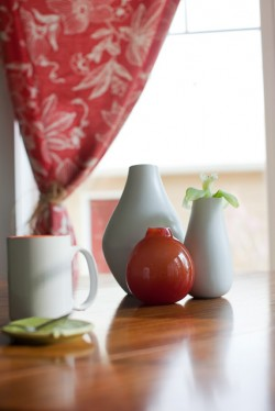 Red and White Vases