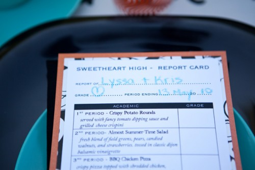 Report Card School Theme Menu