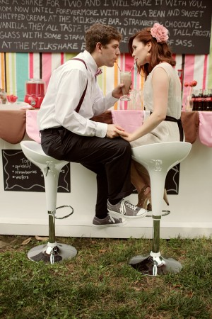 Retro Milkshake Bar Unique Wedding Ideas