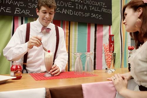 Retro Milkshake Bar Unique Wedding Ideas-12