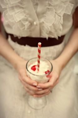 Retro Milkshake Bar Unique Wedding Ideas-17