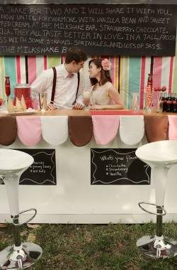 Retro Milkshake Bar Unique Wedding Ideas-43