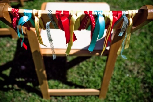 Ribbon Chair Detail Wedding Ideas