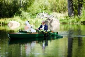 Rowboat Wedding Entrance