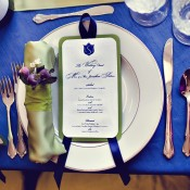 Royal Blue and Champagne Place Setting