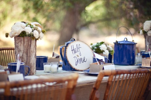 Rustic Camping Theme Centerpiece