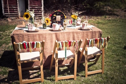 Rustic County Fair Theme Wedding