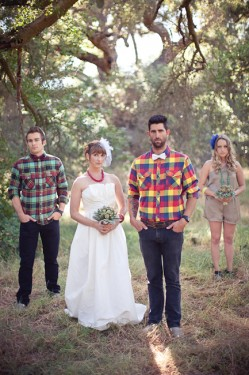 Rustic Woodsy Outdoor Camping Wedding Ideas-01