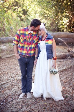 Rustic Woodsy Outdoor Camping Wedding Ideas-16