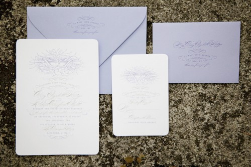 Spring Bird Theme Wedding Invitations The look is sophisticated yet relaxed