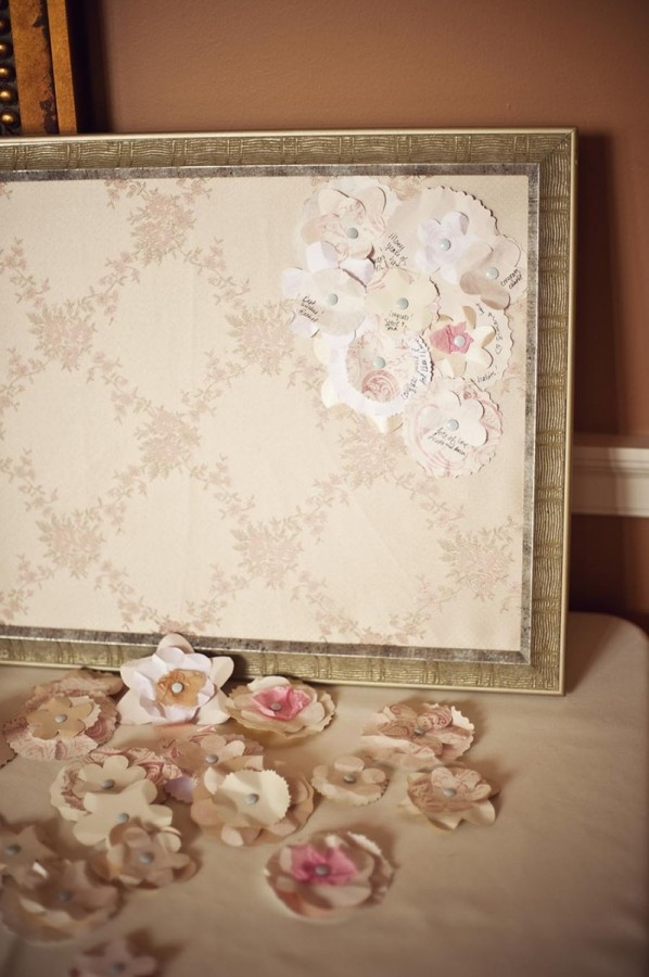 Unique Guest Book Ideas Paper Flowers Elizabeth Anne