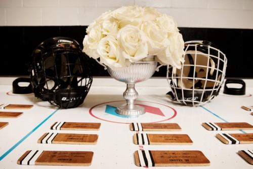 Unique Wedding Ideas Hockey Cards