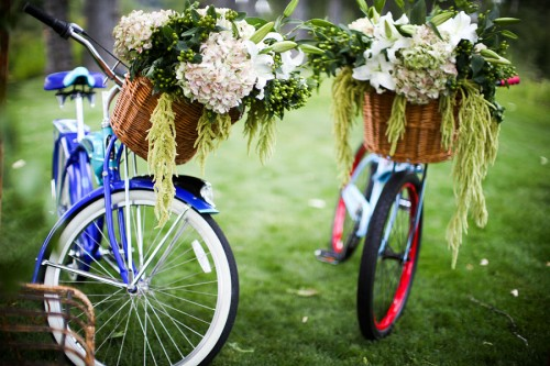 Vintage Bicycles with Flower Basket