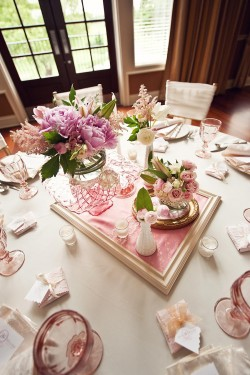 Vintage Gold and Pink Wedding Centerpiece Ideas