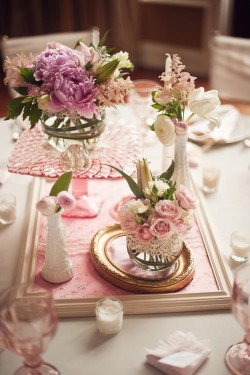 Vintage Inspired Wedding Centerpieces