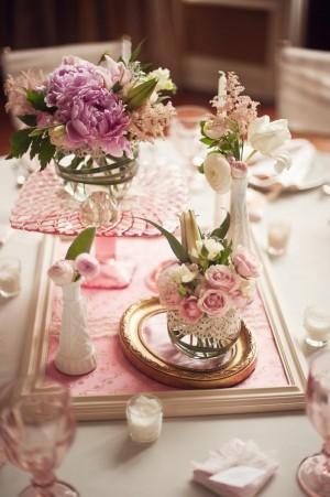 Vintage Inspired Wedding Centerpieces