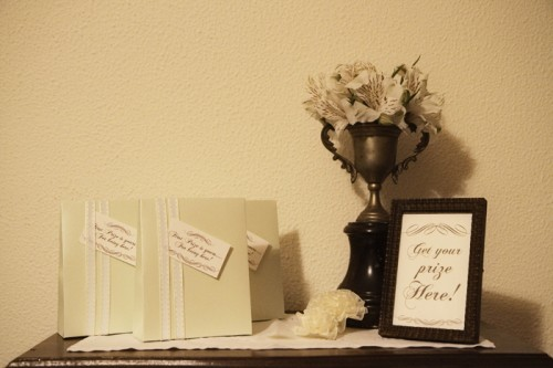 Vintage Wedding Favor Table