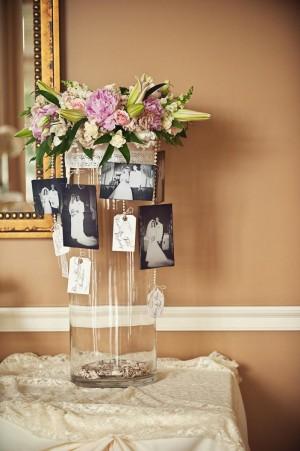 Wedding Memory Tag Card Vase