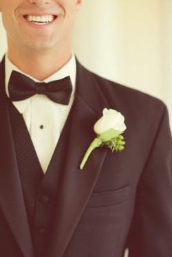 White Rose Boutonniere
