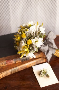 Yellow and Gray Bouquet