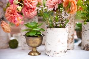 Birch-Covered-Vases-Garden-Centerpiece