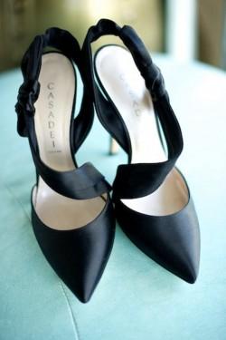 Black Satin Bridal Shoes