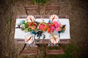 Bright and Colorful Floral Centerpiece