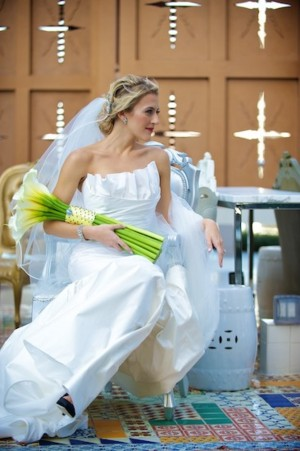 Calla Lilly Long Stem Bridal Bouquet