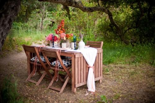Colorful Outdoor Wedding Reception